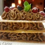 Millefoglie di mousse al cioccolato al rhum