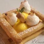 Meringata al limone e biscottini di pasta frolla